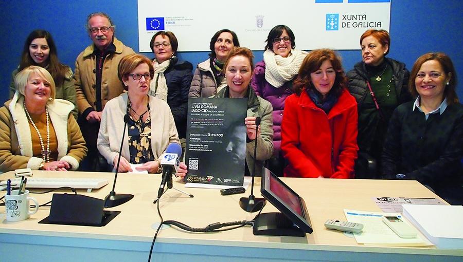 Os promotores da Asociación Chantada contra o Cancro presentaron a iniciativa a finais de decembro, co concerto benéfico de Iago Cid a beneficio deste colectivo.  (Foto: Kris Pereira's).