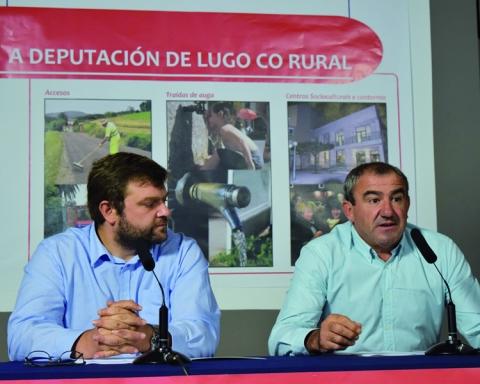 Presentación do Plan de Impulso Rural, no que o Goberno da Deputación destina 2,2 millóns de euros a financiar 311 actuacións no 67 concellos da provincia. GPDL