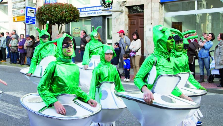 A participación dos máis novos no Entroido monfortino convirte a esta celebración no evento máis participativo do calendario festivo da cidade. Arquivo EC