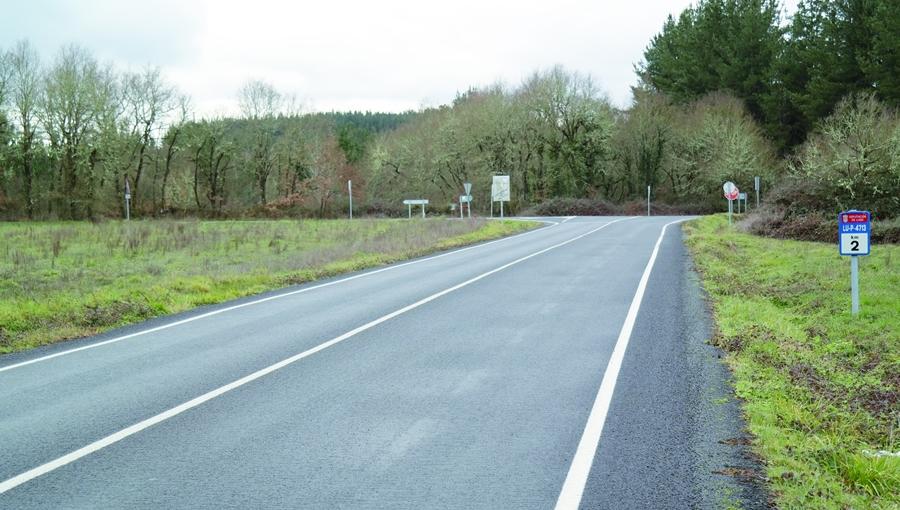 Boa parte das actuacións do Plan Integral da Rede Viaria provincial 2016 xa están executadas, como as realizadas na LU-P-4713 que une A Pobra do Brollón coa estrada de Lugo. EC