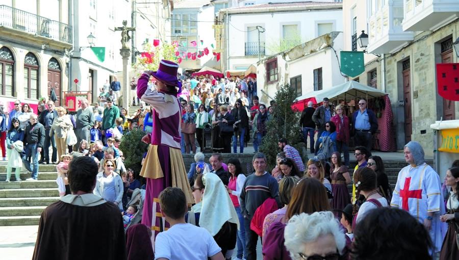 A Feira Medieval de Monforte cumple 15 anos aproveitando con éxito o casco histórico da cidade do Cabe para a recreación lúdica da época medieval. Arquivo EC.